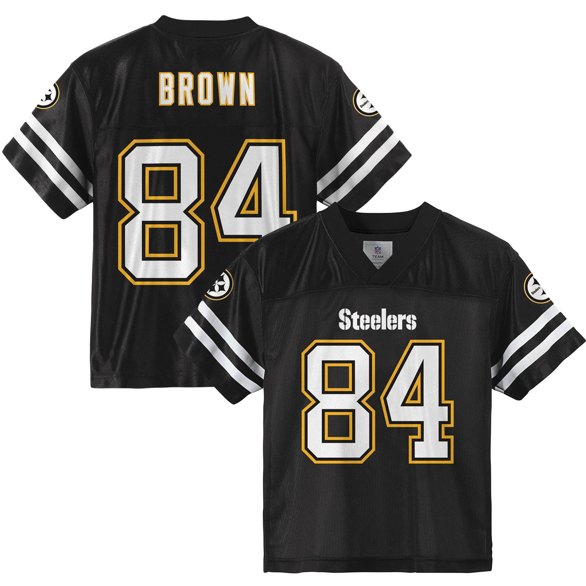 Youth Antonio Brown Black Pittsburgh Steelers Player Jersey