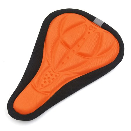 Father  s Day Gift l 3D Gel Silicone Cycling Bicycle Bike Saddle Cushion  Cover Soft Pad Orange