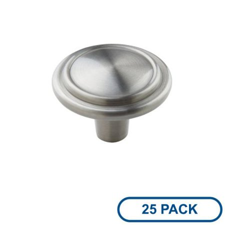 5/8 Inch Antique Silver Knob - Amerock BP29113-25PACK Allison Value Hardware 1-1/4 Inch Diameter Mushroom Cabinet Knob - Package of 25