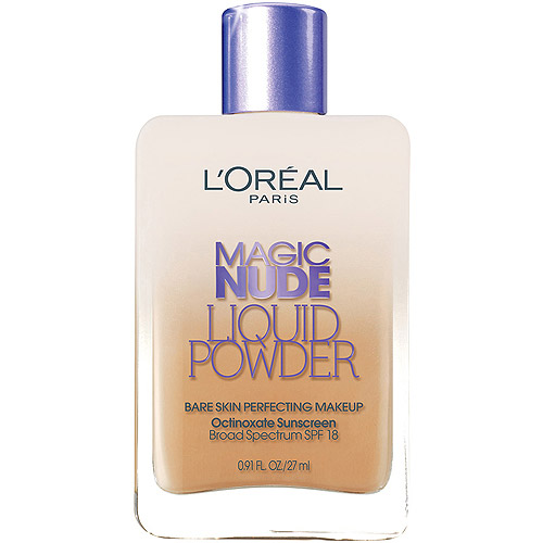 L'Oreal Paris Magic Nude Liquid Powder Bare Skin Perfecting Makeup, 328 Sun Beige, 0.91 fl oz