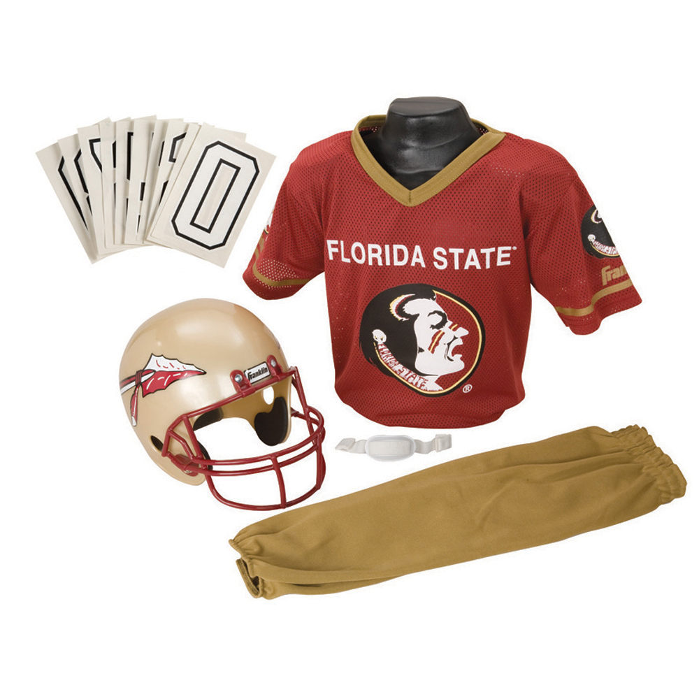Florida State Seminoles Youth NCAA Deluxe Helmet and Uniform Set