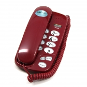 TeleCraft Wall Mountable Trim Phone- Burgundy