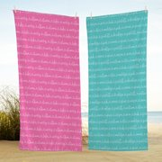 Personalized Allover Name Beach Towel - Available in 4 Colors