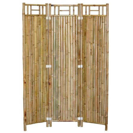 3 Panel Outdoor Bamboo Room Divider