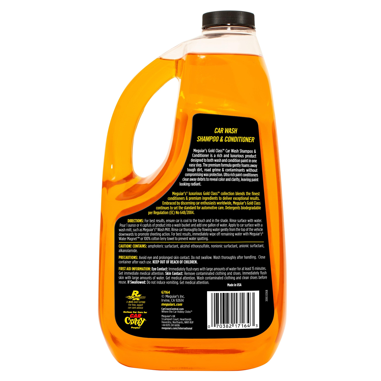 8273450505fd Meguiar's G7164 Gold Class Car Wash Shampoo & Conditioner - 64 oz ...