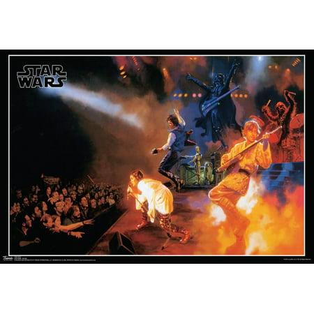 Silkscreen Concert Poster - Star Wars Rocks Concert Music Poster - 19x13