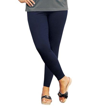 c8d10ebde8d Ulla Popken - Ulla Popken Women s Plus Size Basic Long HIgh Stretch Leggings  701081 - Walmart.com