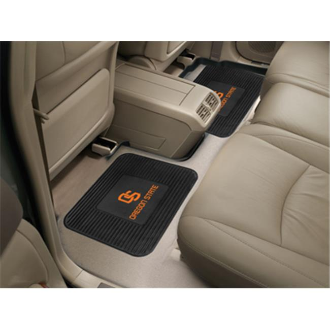 Fanmats 12267 Oregon State University Backseat Utility Mats 2 Pack 14 inch x 17 inch