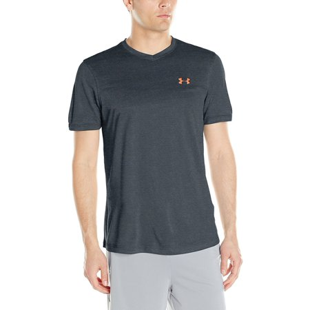 499ba2559e Under Armour Tech™ V-Neck Men's Short Sleeve Shirt Stealth Gray/Phonix Fire  X-Large