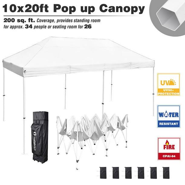 Instahibit 10x20 Pop Up Canopy Tent Commercial Instant Shelter Trade Fair Outdoor Market Vendor Tent Walmart Com Walmart Com