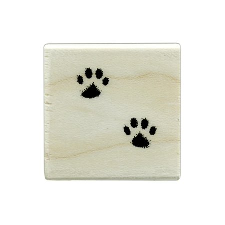 HROA193 HERO ARTS WOOD STAMP SM CAT S PAWS - Paw Print Stamp