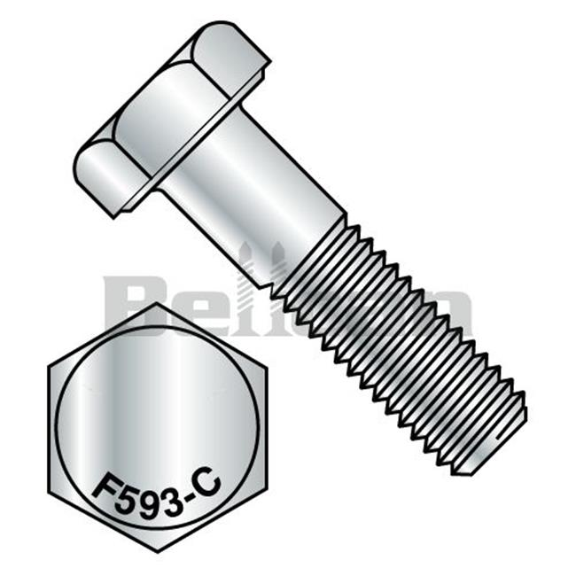 0.25-20 x 1.75 Hex Cap Screw - 18-8 Stainless Steel - Box of 100