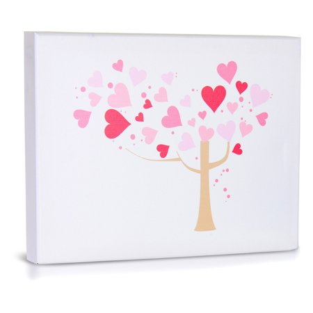Green Frog Love Tree Canvas Gallery Wrapped Art
