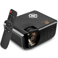 Houzetek Mini Projector Portable 1080P LED Projector Home Cinema Theater Indoor/Outdoor Movie projectors Support Laptop PC Smartphone HDMI Input Great Gift Pocket Projector for Party and Camping