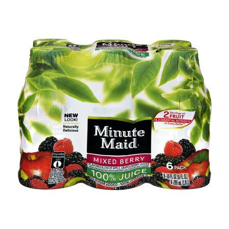 (4 Pack) Minute Maid 100% Juice, Mixed Berry, 10 Fl Oz, 6 - Arnold Maid