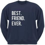 Valentine's Day Best Friend Ever Navy Adult Crew Neck Sweatshirt - Large
