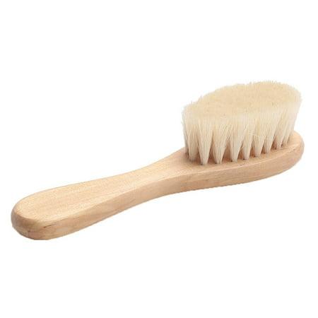 - Fancyleo New Wooden Baby Hair Brush Newborn Hair Head Massager