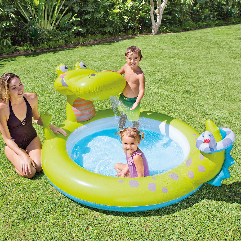 "Intex Inflatable Gator Spray Pool, 78"" x 63"" x 36"""