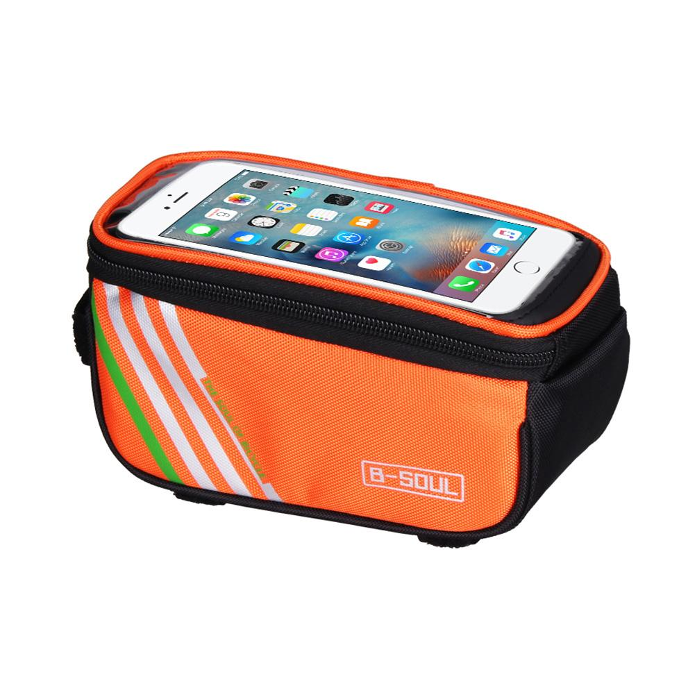 "Bicycle Cycling Bike Frame Front Tube Waterproof Mobile Phone Bag 5.0/"" Outdoor"