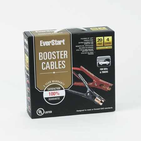 Everstart 20 ft. 4-Gauge Booster Cables