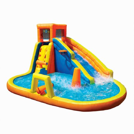 Banzai 90341 Battle Blast Adventure Park with Blower Motor and 3 Water Cannons (Water Bottle Ll Bean)