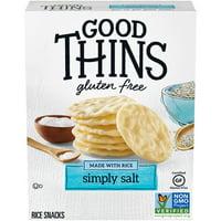 Good Thins Simply Salt Rice Snacks Gluten Free Crackers, 3.5 oz.