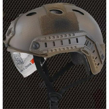 Lancer Tactical CA-740N, FAST Helmet PJ Type with Google (BASIC VERSION w/VISOR) DE CUSTOM, Dark Earth](Custom Koozies Fast)