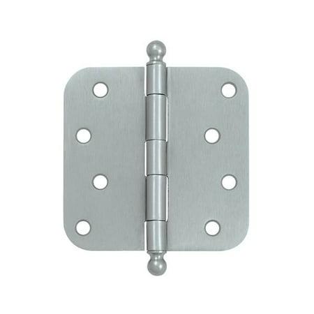 4 in. x 4 in. x 0.63 in. Radius Steel Hinge w Ball Tips - Pair (Set of 10) (Satin (0.63 Radius Steel Hinge)