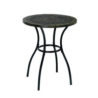 Bowery Hill Patio Round Bistro Table in Black