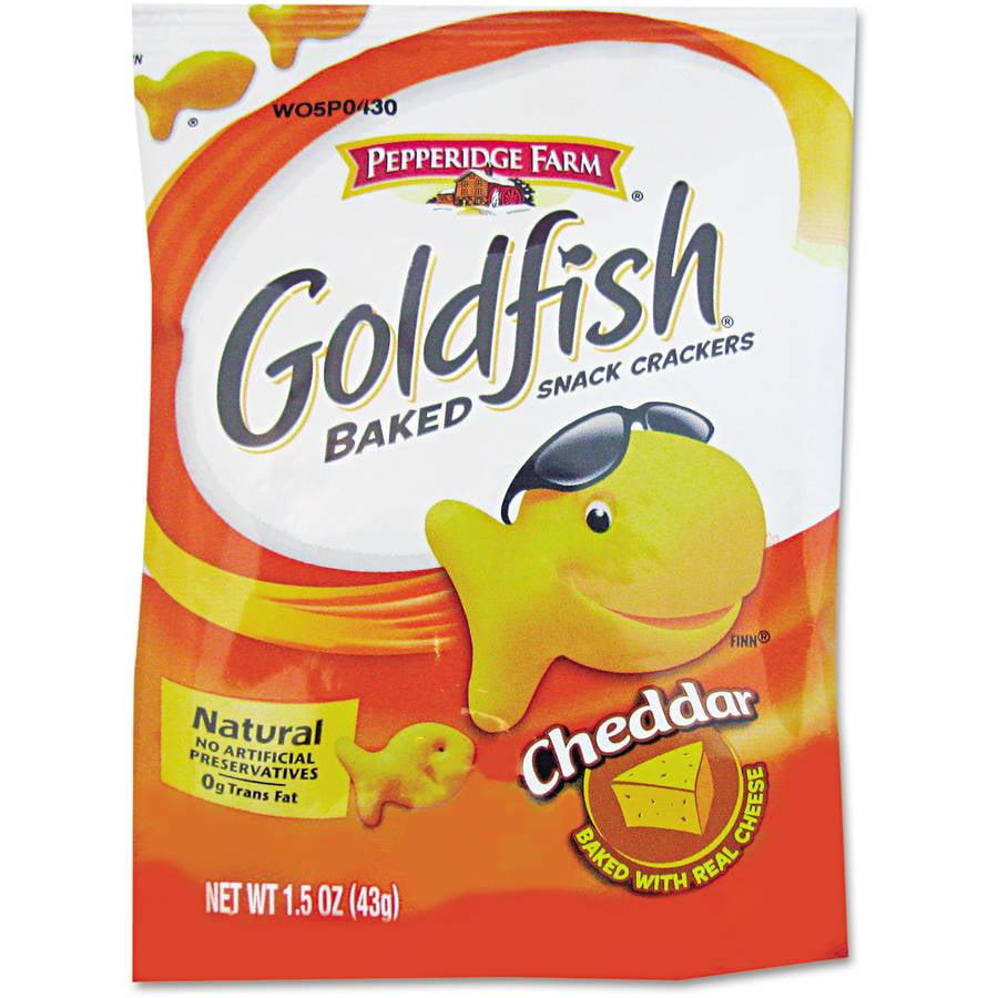 Pepperidge Farm Cheddar Goldfish Crackers, 72 Single Serve Snack Bags