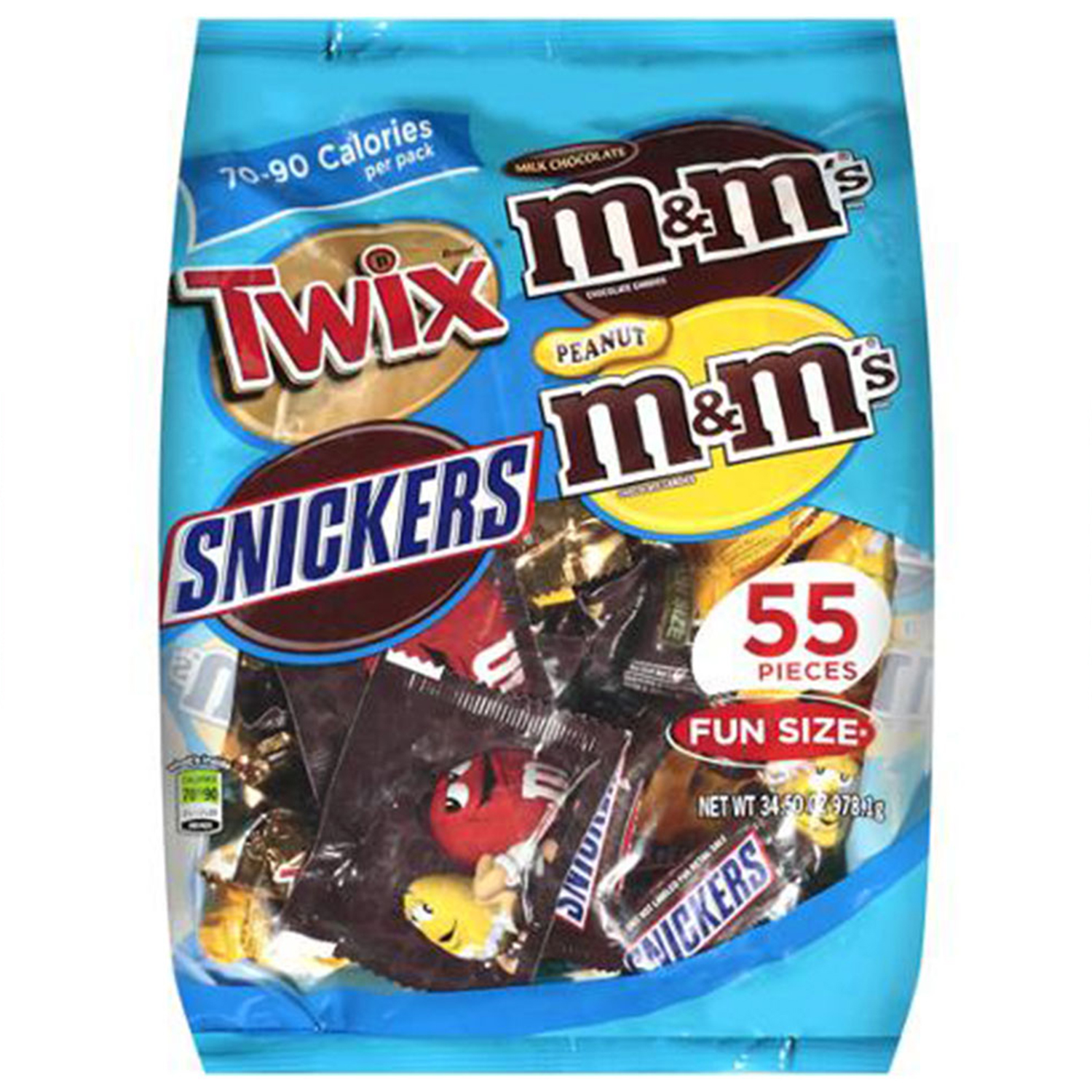 MARS Chocolate Fun Size Candy Bars Variety Mix Bag (TWIX, SNICKERS ...