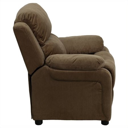 Bowery Hill Padded Kids Recliner in Brown - image 3 of 5