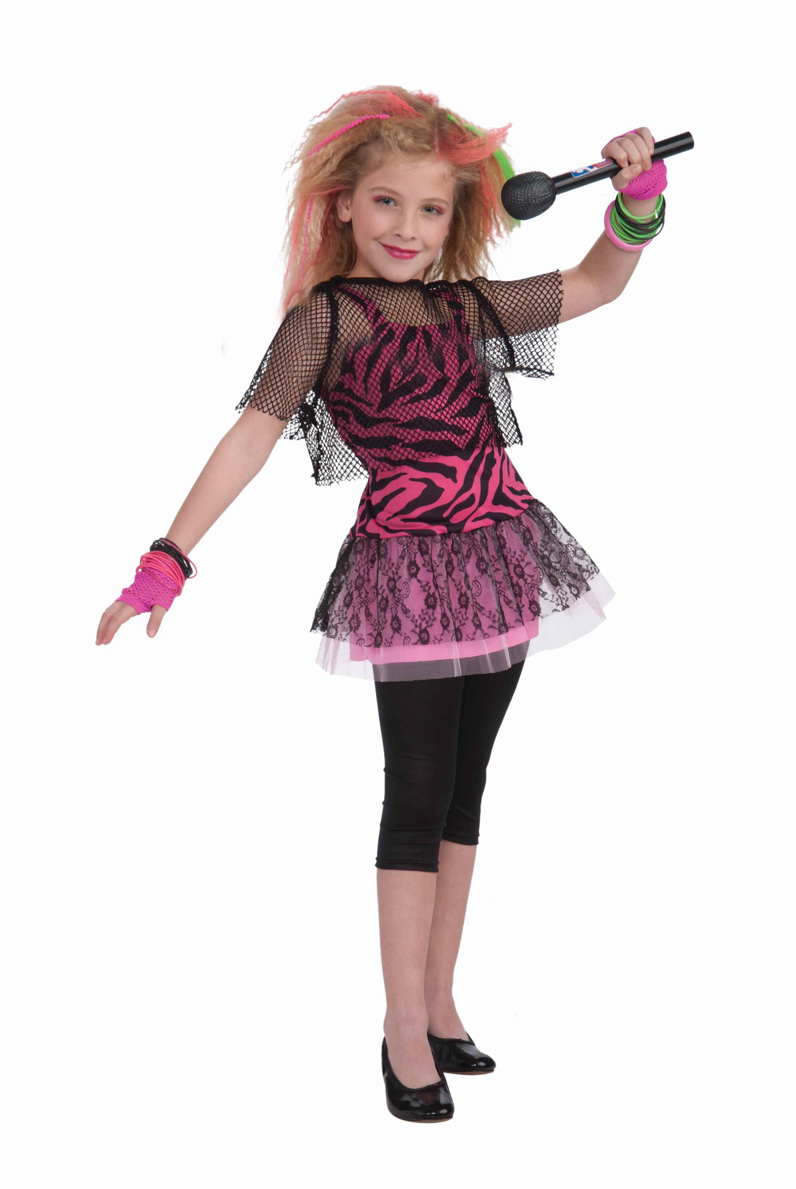 5d7a68b2258 80s Rock Star Girl s Costume - Walmart.com