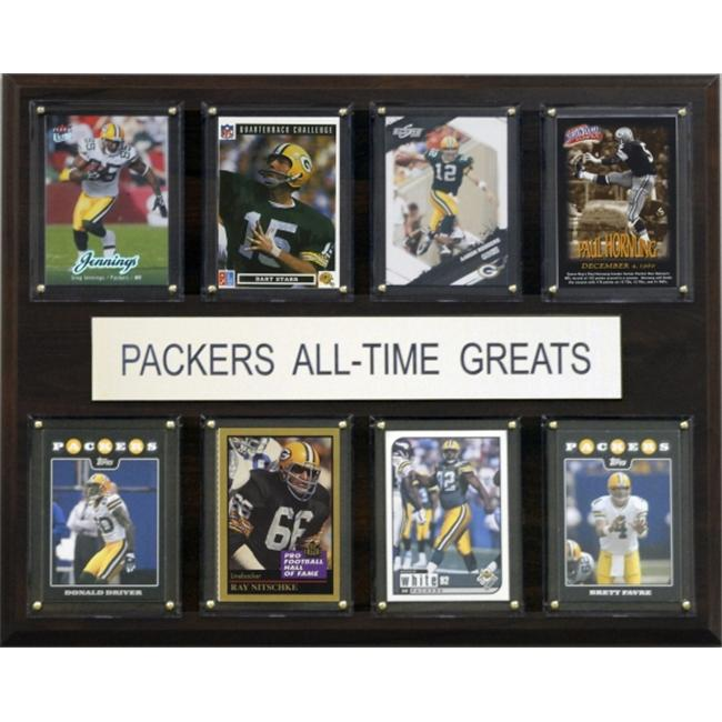 C & I Collectables 1215ATGPACK NFL Green Bay Packers All-Time Greats Plaque