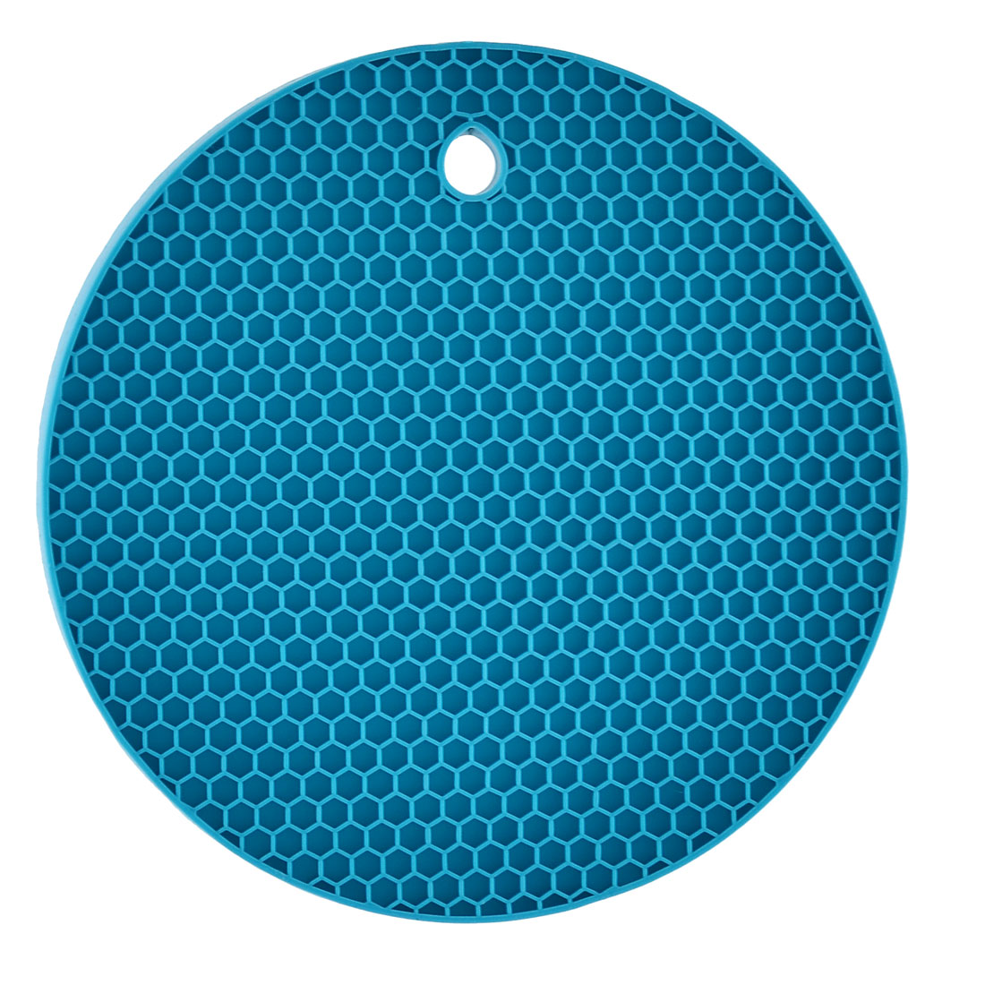 Kitchen Table Round Shaped Nonslip Heat Insulated Pot Mat Pad Holder Teal Blue