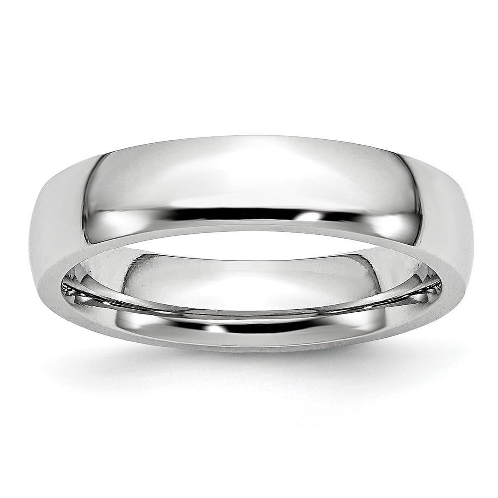 Mens Cobalt Polished 5mm Wedding Band Ring Size 10.5