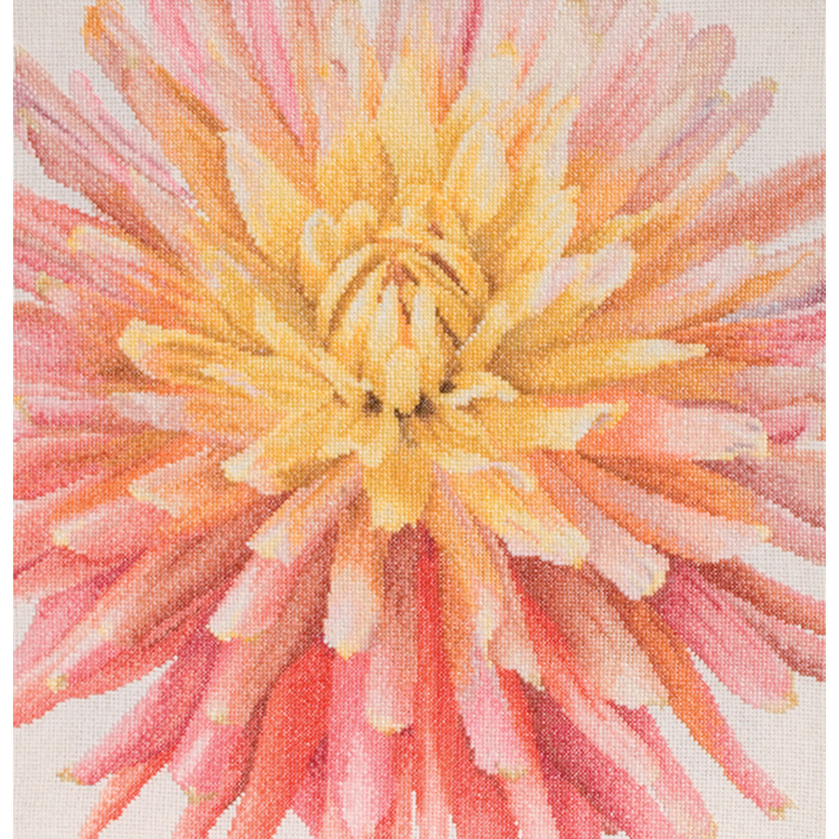 Thea Gouverneur Counted Cross-Stitch Kit, Dahlia
