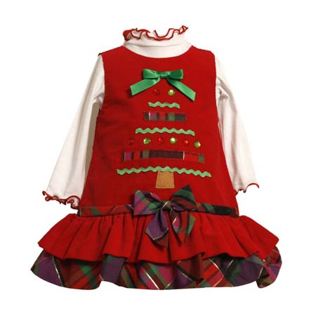 Girl Dress Sale (Bonnie Jean Christmas Tree Dress Newborn to Girls 6X   FINAL SALE)