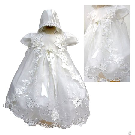 BABY GIRL & TODDLER CHRISTENING BAPTISM DRESS GOWN 01234 NEW BORN TO 30 M WHITE (Christening Gowns For Sale)