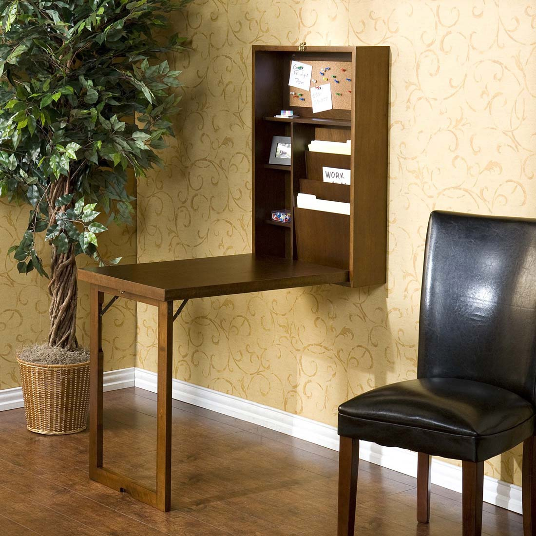 Bandera Fold-Out Convertible Writing Desk, Multiple Finishes by Southern Enterprises, Inc