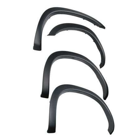 Truck Inner Fender - Tyger Auto TG-FF6D4198 For 2002-2008 Dodge Ram 1500; 2003-2009 Ram 2500 3500 (ONLY Fit 6.5' Truck Bed) | Paintable Fine-Textured Matte Black Factory Style Fender Flare Set, 4 Piece