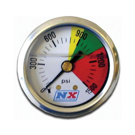 - Nitrous Express 15508 Nitrous Pressure Gauge; 0-1500 psi;