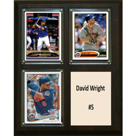 David Wright Memorabilia - C&I Collectables MLB 8x10 David Wright New York Mets 3-Card Plaque