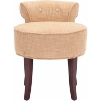 Safavieh Georgia Contemporary Glam Upholstered Vanity Stool