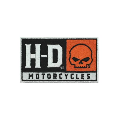 Harley-Davidson Embroidered H-D Skull Emblem Patch, SM 4 x 2.25 in. EM043662, Harley Davidson
