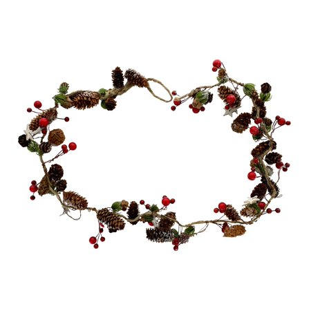 Garland Wood Pinecone w/Berries 39