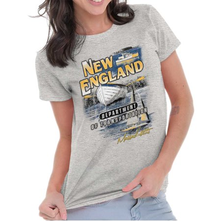Brisco Brands New England Sailboat Vacation Adult Short Sleeve