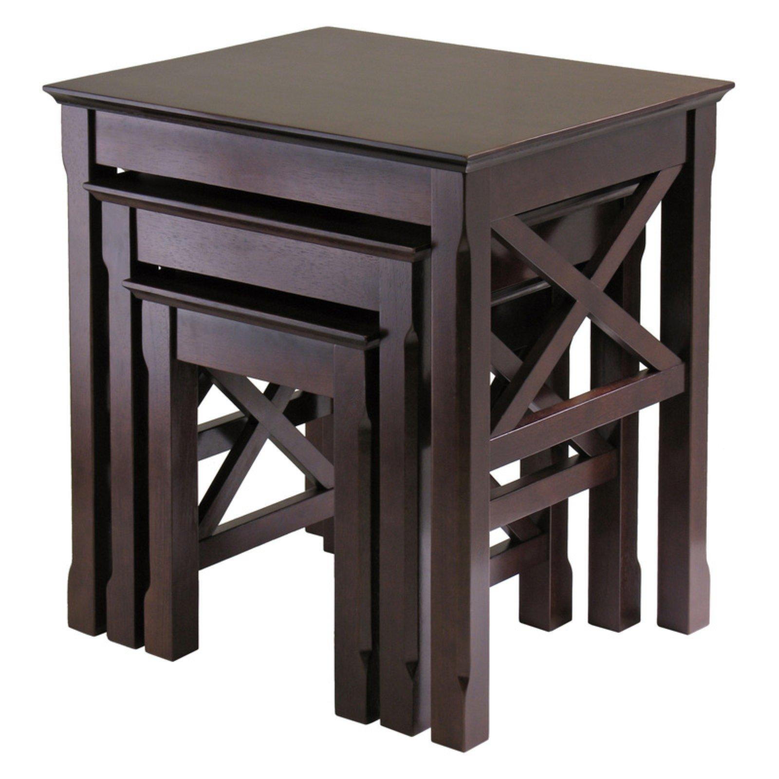 Winsome Xola 3 Piece Nesting Table