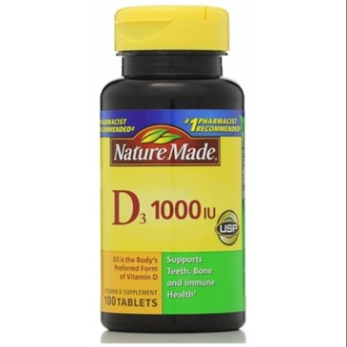 Nature Made Vitamin D 1000 IU Tablets 100 ea