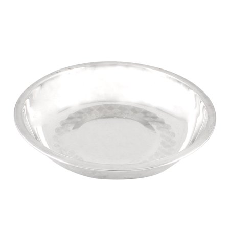 Unique Bargains Unique Bargains Kitchen Silver Tone Metal Dinner Plate Dish Tray 16cm x 2.8cm